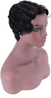 Mommy Wig 100% Human Hair Short Wig Finger Wave