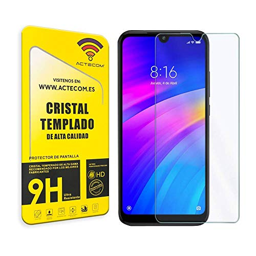 actecom® Protector Pantalla Compatible con XIAOMI REDMI 8A Cristal Vidrio Templado