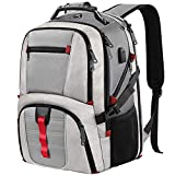 TSA Laptop Backpack, Large Travel Computer Backpack for Men Women with USB Charger Port,Business Laptop College School Bookbag for 17Inch Laptop,Grey