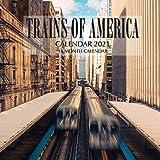 Trains of America Calendar 2021: 16 Month Calendar