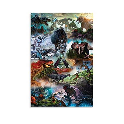 xiaoxiami Ark Survival Evolution Extinction Xbox-Poster, dekoratives Gemälde, Leinwand, Wandkunst, Wohnzimmer, Poster, Schlafzimmer, Gemälde, 50 x 75 cm
