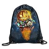Etryrt Mochilas/Bolsas de Gimnasia,Bolsas de Cuerdas, Gym Jack Flower Face Drawstring Backpack Bag