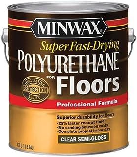 Minwax 13021000Super Poliuretano de secado rápido para suelos, 1Gallon, semi-gloss