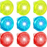 9 Pieces LED Safety Light with Batteries Bicycle Strobe Light Clip-on Running Light Good Visibility for Cycling, Hiking, Dog Collar, Stroller, Backpack, Runners and Night Running, 3 Colors