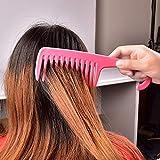 Ampliación de dientes anchos panales de gancho de la manija Detangling reducir la pérdida de pelo del peine de Pro Tools Hairdress salón teñido Styling Brush caliente de la venta Peine de cuerno