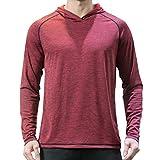 OUICE Homme Sweat A Capuche Sport pour Hommes A Manches Longues A Séchage Rapide Confortable Tops