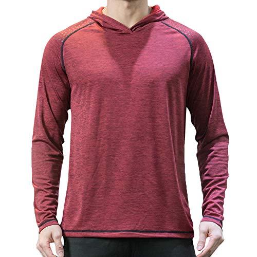 UINGKID Schnelltrocknende Kleidung T-Shirt Bodybuilding-Top Männer Kurzarm Lange Ärmel Outdoor-Sportarten Lauf Reiten Basketballtraining