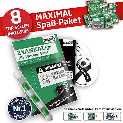 Bremen Handtuch ist jetzt das MAXIMAL SPAß Paket für Werder Fans by Ligakakao.de duschtuch Emblem Logo Soft one Size Baumwolle weich saugstark grün-weiß