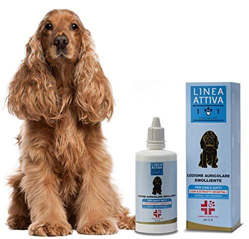 Detergente per Orecchie Naturale e Vegetale - Contro Cattivi Odori, Prurito, Irritazioni, Acari e Scrollate - per la Pulizia Auricolare di Cani e Gatt