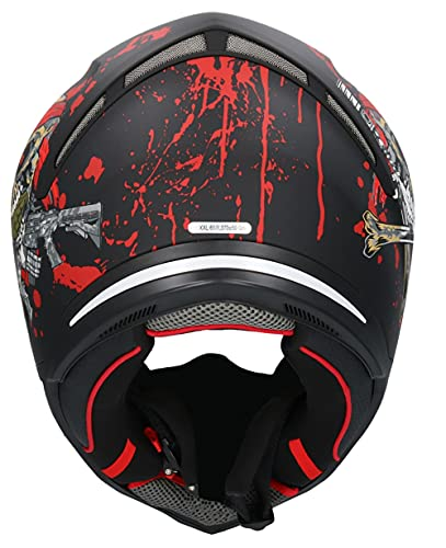casco moto rosso e nero Shiro SH-890 - Casco Broken Head nero opaco e rosso