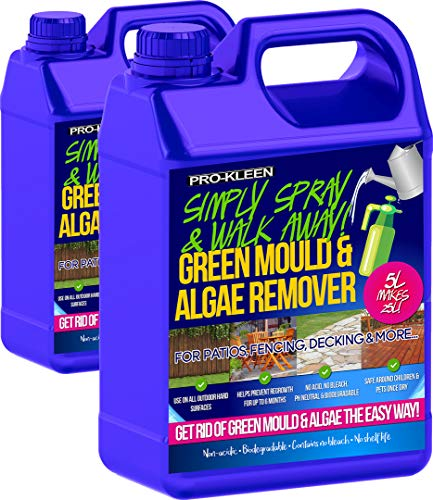 Pro-Kleen Patio Cleaner Simply Spray and Walk Away Green Mould and Algae Killer for Patios, Fencing...