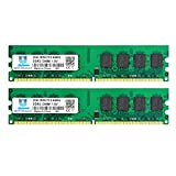 4GB Kit (2x2GB) DDR2 800MHz PC2 6400 6400U Unbuffered Non-ECC 1.8V CL6 2Rx8 Dual Rank 240 Pin UDIMM Memoria de Escritorio
