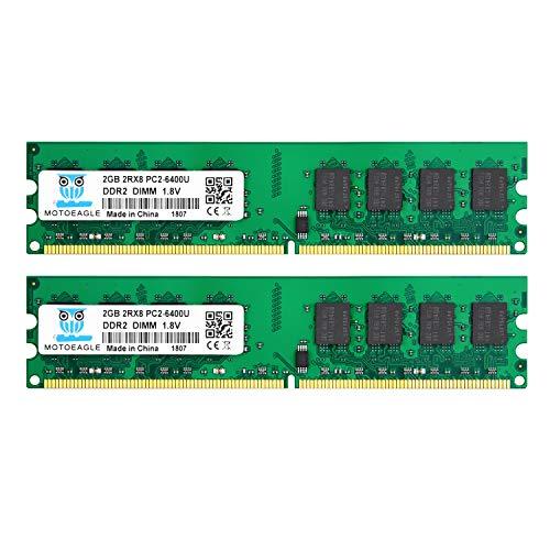 4GB Kit (2x2GB) DDR2 800MHz PC2 6400 6400U Unbuffered Non-EC