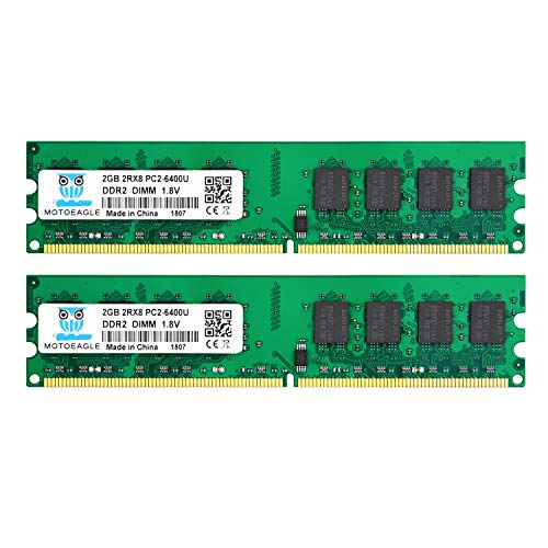 motoeagle 4GB Kit (2x2GB) DDR2 800 MHz PC2-6300 PC2-6400U 1.8V 240-PIN DIMM Desktop-Speicher