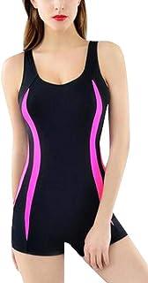 Foucome フィットネス水着 レディース 競泳水着 練習用 スイムウェア 水泳 体型カバー スポーツ水着