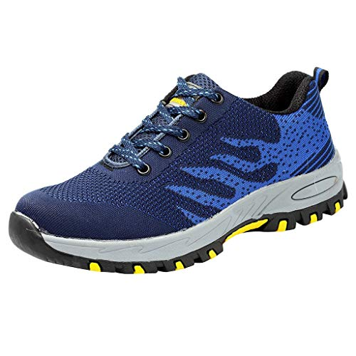 KERULA Fashion Sneakers, Women & Men Casual Stahlkappe Arbeitssicherheit Konstruktion Breathable Sport Low-Top Running Shoes Sportschuhe Damenschuhe und Herrenschuhe Laufschuhe Elastische