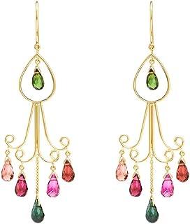 Gehna 18KT Yellow Gold and Tourmaline Drop Earrings for Women
