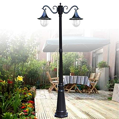 Europese waterdichte metalen tuinverlichting licht 2-licht E27 LED acryl patio column lamp Outdoor Villa Hall Club decoratie gazon straatverlichting metalen vijver lamp
