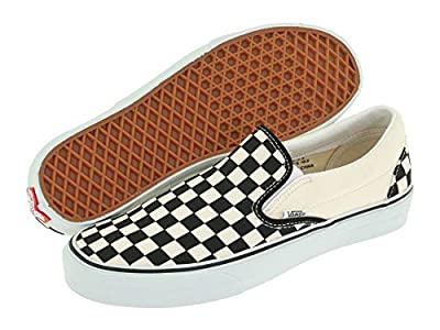 Vans Classic Slip-On Unisex (13 D(M), Black/Off White Check)