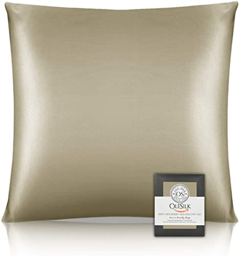 OLESILK Taie d'oreiller en soie naturelle de mûrier 16 Mommes: prend soin de votre peau et moins de perte de cheveux ...