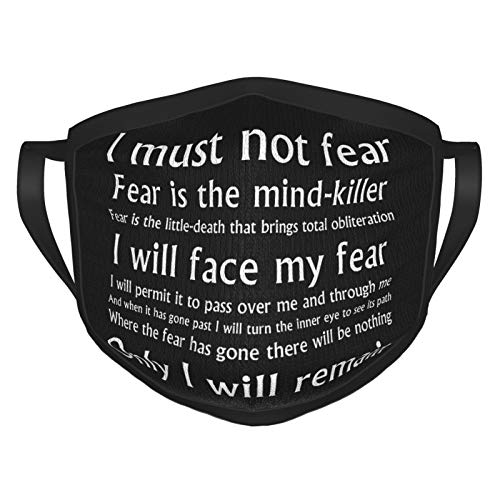 Dune Fear is the mind killer mantra Unisex, comfortable, breathable, reusable and washable balaclava dustproof cotton face mask
