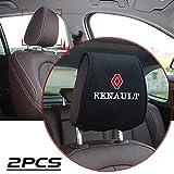 LSYBB 2pcs Automóviles Seat Covers Ayuda del Cuello del Soporte para Coche automático Reposacabezas Reposacabezas Viaje para Renault Megane 2 Plumero