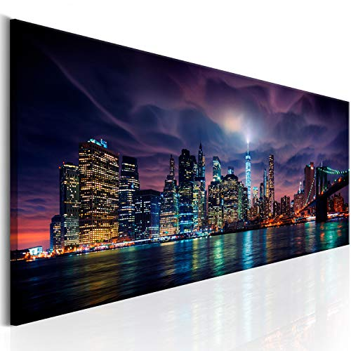 murando Acrylglasbild Panorama 120x40 cm Wandbild auf Acryl Glas Bilder Kunstdruck Moderne Wanddekoration - New York Stadt City NY d-B-0155-k-a