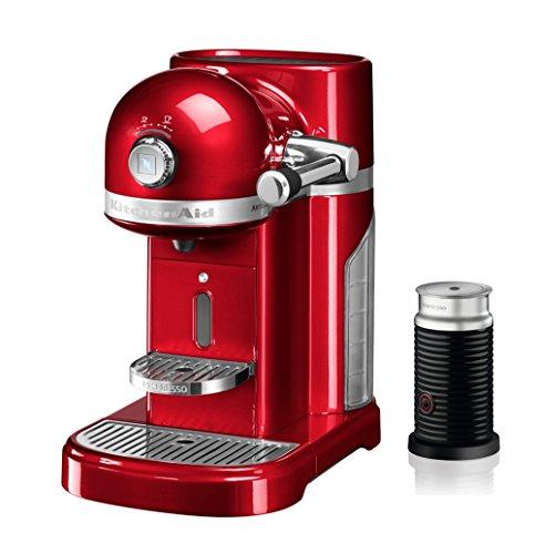 KITCHENAID 5KES0504ECA/4 Nespresso Kapselmaschine mit Aeroccino Candy Apple