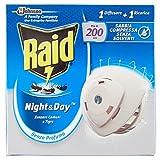 Raid Night & Day Zanzare Comuni E Tigre 1 Diffusore + 1 Ricarica