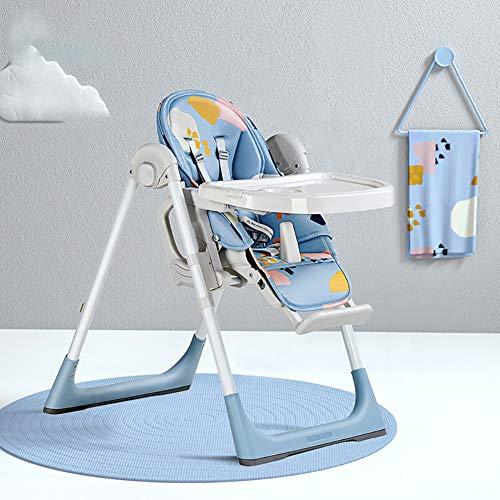 Chaise Haute pour bébé, Plateau Amovible Pratique et Tabouret réglable.Les chaises légères à Un Prix raisonnable conviennent aux bébés de 6 Mois à 4 Ans-Blue