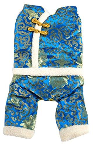 confortable d'hiver pour chien chinois Costumes pour animal domestique Vêtements (Bleu, Taille : XL)