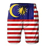 Jiger Malaysia Flag Man Summer Casual Board ShortsL