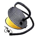 YMIQ Bomba de aire de pie para inflables de 3 litros, inflador manual de aire para interiores y exteriores, para camping, camas de aire, piscina, flotador, barco, anillo de natación
