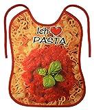 Geile-Fun-T-Shirts Erwachsenen Lätzchen - Ich liebe Pasta - Nudel Sabberlatz lustiges Männer Geschenk-Set mit Spassvogel-Urkunde zum Vatertag