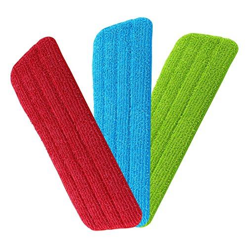 URAQT Spray Mop Mikrofaser Pads, Microfaser Reinigung Pads für Spray Mops und Reveal Mops Waschbar, 42 x 14 cm, 3 Stück