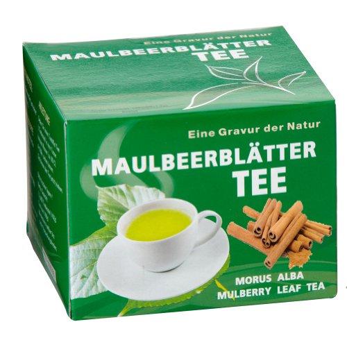Maulbeerblaetter Tee mit Zimt 60 Teebeutel