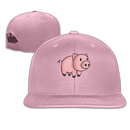 Yishuo Men's Cute Pig Shirt With Japanese Pig Sound Funny Golf Pink Hat Adjustable Snapback