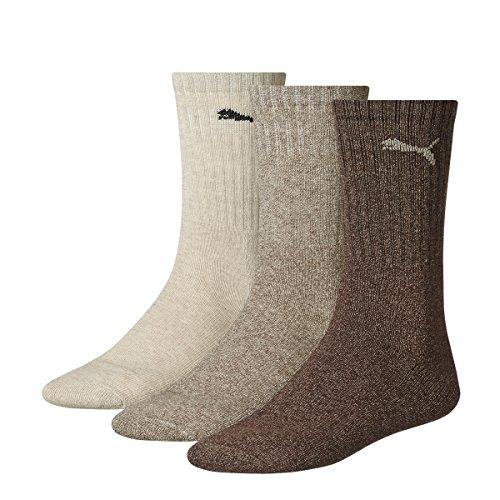 Puma - Unisex Sport Socken 3er Pack, Mehrfarbig (Chocolate/Walnut/Safari), 43-46