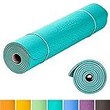 KeenFlex Grand Tapis de Yoga Premium épais et Confortable, pour Pilates/Fitness/Sport/Gym/Ecologique et recyclables (Turquoise)