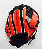 Soft leather baseball gloves for children 9.5 inches PU leather batting left-handed catcher gloves sports gloves (Size : 9.5 inch)