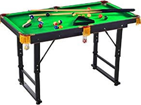 Table table, adult and children's portable billiard table - highly adjustable foldable pool table. Suitable for home, incl...