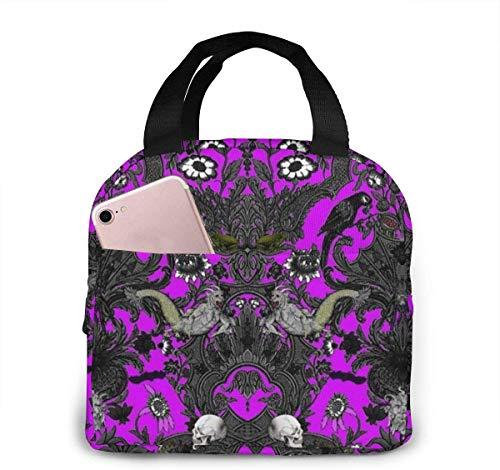 Haunted House - Bolsa de almuerzo para mujer o niña, bolsa de picnic aislada, bolsa térmica grande, flexible, resistente al agua para caja de regalo
