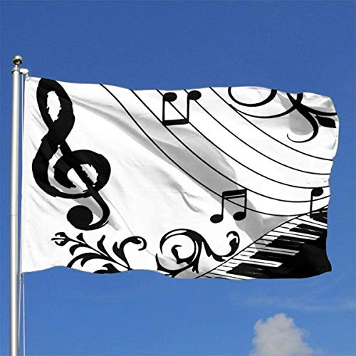Xhayo Flaggen Chic Music Piano Keyboard Note 3x5 Ft Flag Outdoor Premium Quality