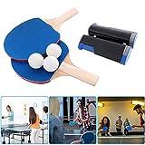 nobrand Red Ping Pong Juego portátil 1 Red retráctil 1 par de Raquetas de Tenis de Mesa 3 me Dan la Pelota Entrenamiento de Tenis de Mesa al Aire Libre en Interiores