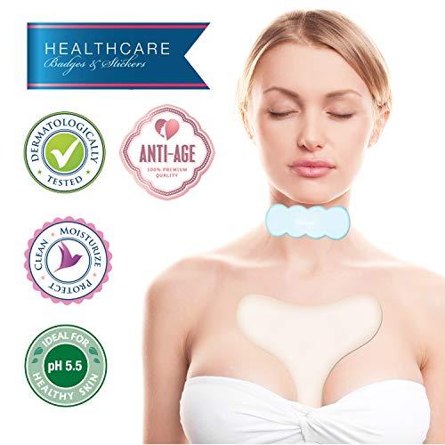 UNDOMIEL - Almohadillas para el pecho para mujer, antiarrugas, para cuidado de cicatrices y perlas, tratamiento médico, para el cuello, evita que se estire y reduce las líneas finas al dormir.