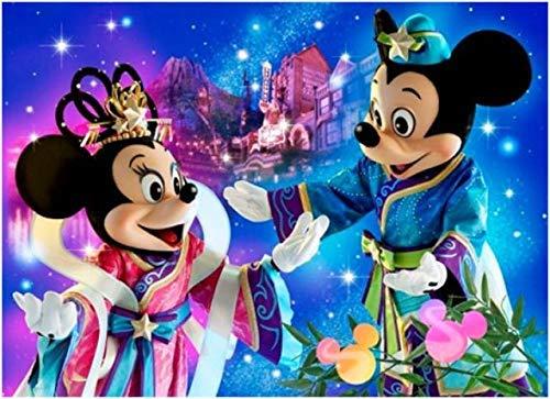 olwonow 1000 Piezas de Rompecabezas Infantil súper Claro 75x50cm Mickey Mouse Juego Educativo para niños Adultos