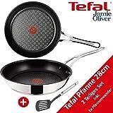 Tefal H60130 Jamie Oliver Edelstahl-Pfanne 28cm