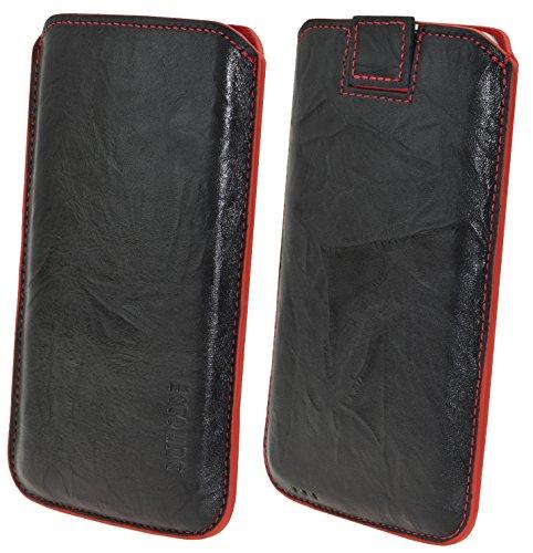 Suncase 52383387 Schutzhülle für Handy, 12,9 cm (5,1 Zoll), Schwarz, Rot