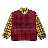 Oakley FOA401338 - Chaqueta térmica Tartan Anorak para hombre, 9 m, mezcla de tartán rojo S
