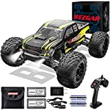 BEZGAR 1 Hobby Grade 1:10 Scale Remote Control Truck with 3 Differentials, Powder Metallurgy Metal 4WD High Speed 48+ kmh All Terrains Off Road RC Monster Vehicle Car Crawler for Boys Kids and Adults